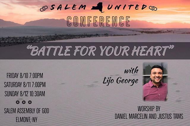 New York this weekend… if your near by come join us…will be speaking at AG Salem United Conference! Worship by Daniel Marcelin & Justus Tams. — Venue address —- 111 Waldorf Avenue, Elmont, NY 11003