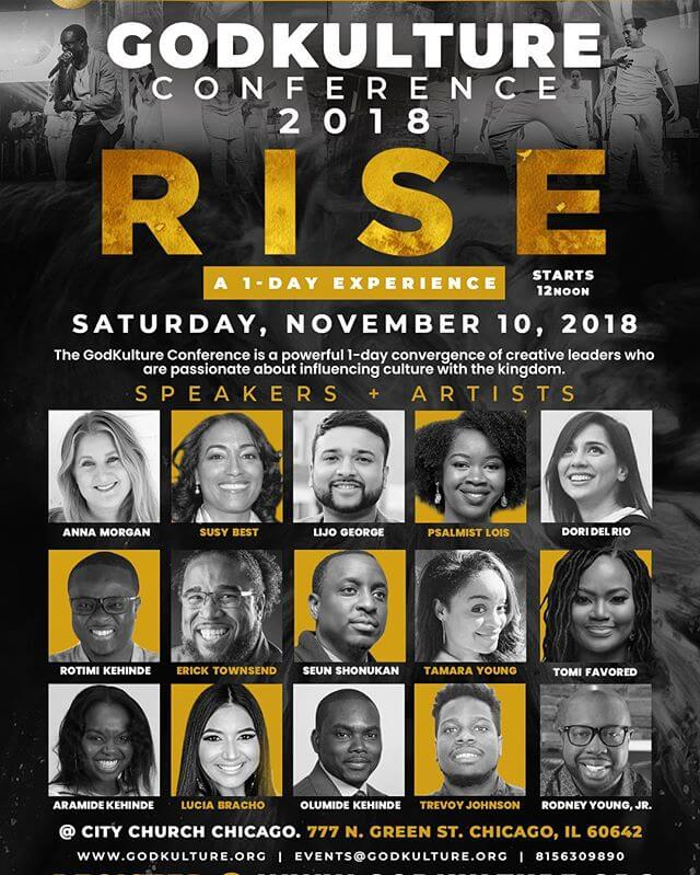 Looking forward to RISE2018 held at @citychurchchi (NOV 10th)